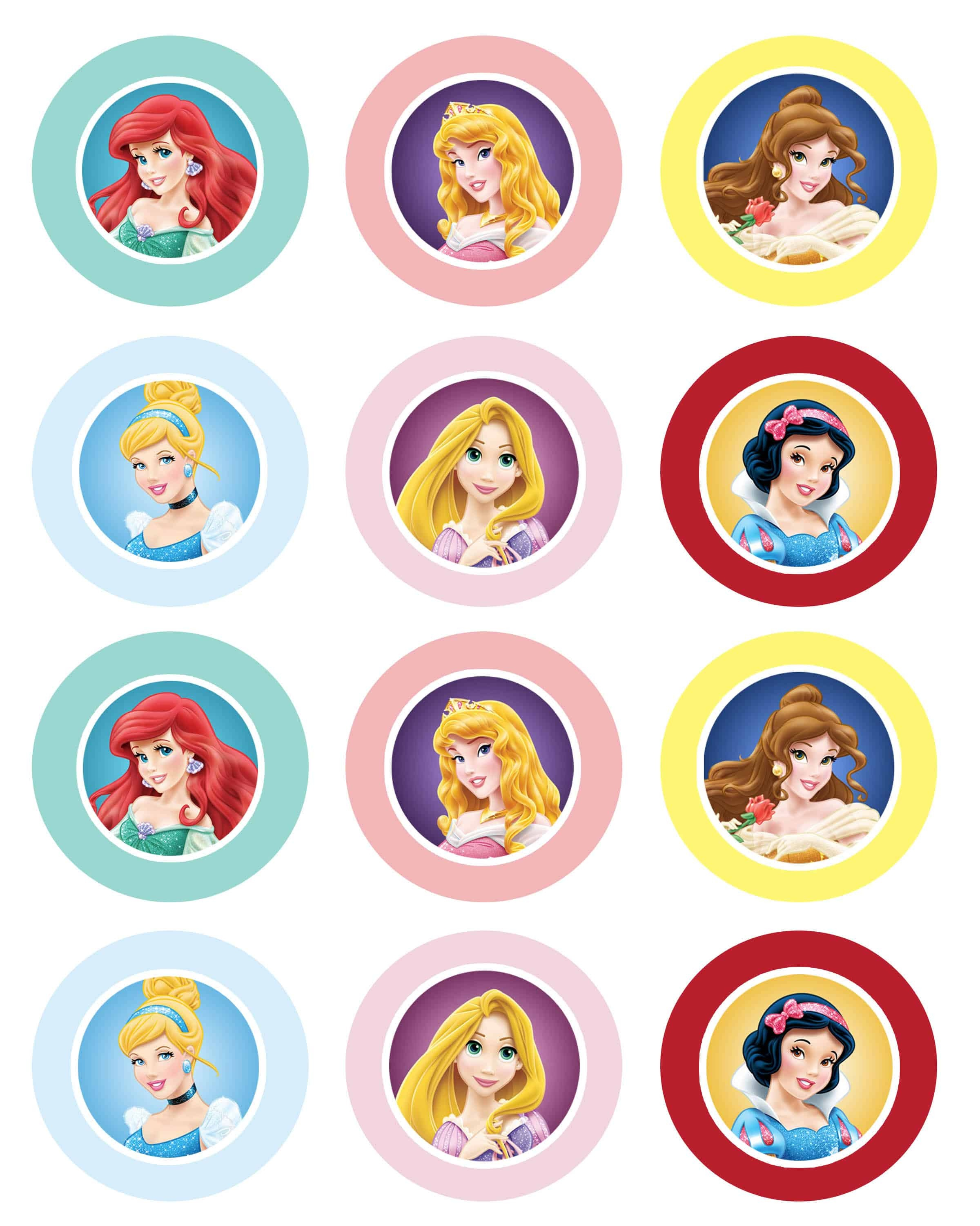 Disney Princess Cupcakes And Giveaway! - Cupcake Diaries - Batman Cupcake Toppers Free Printable
