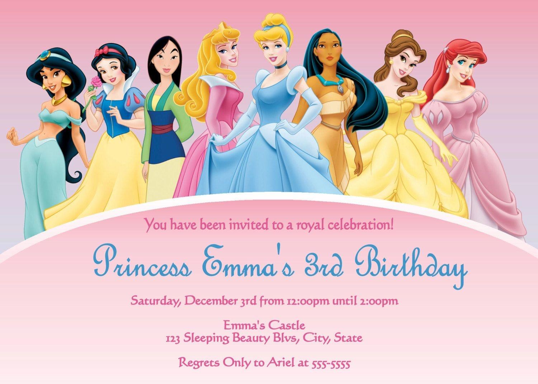Disney Princess Free Printable Templates | Disney Princess - Disney Princess Birthday Invitations Free Printable