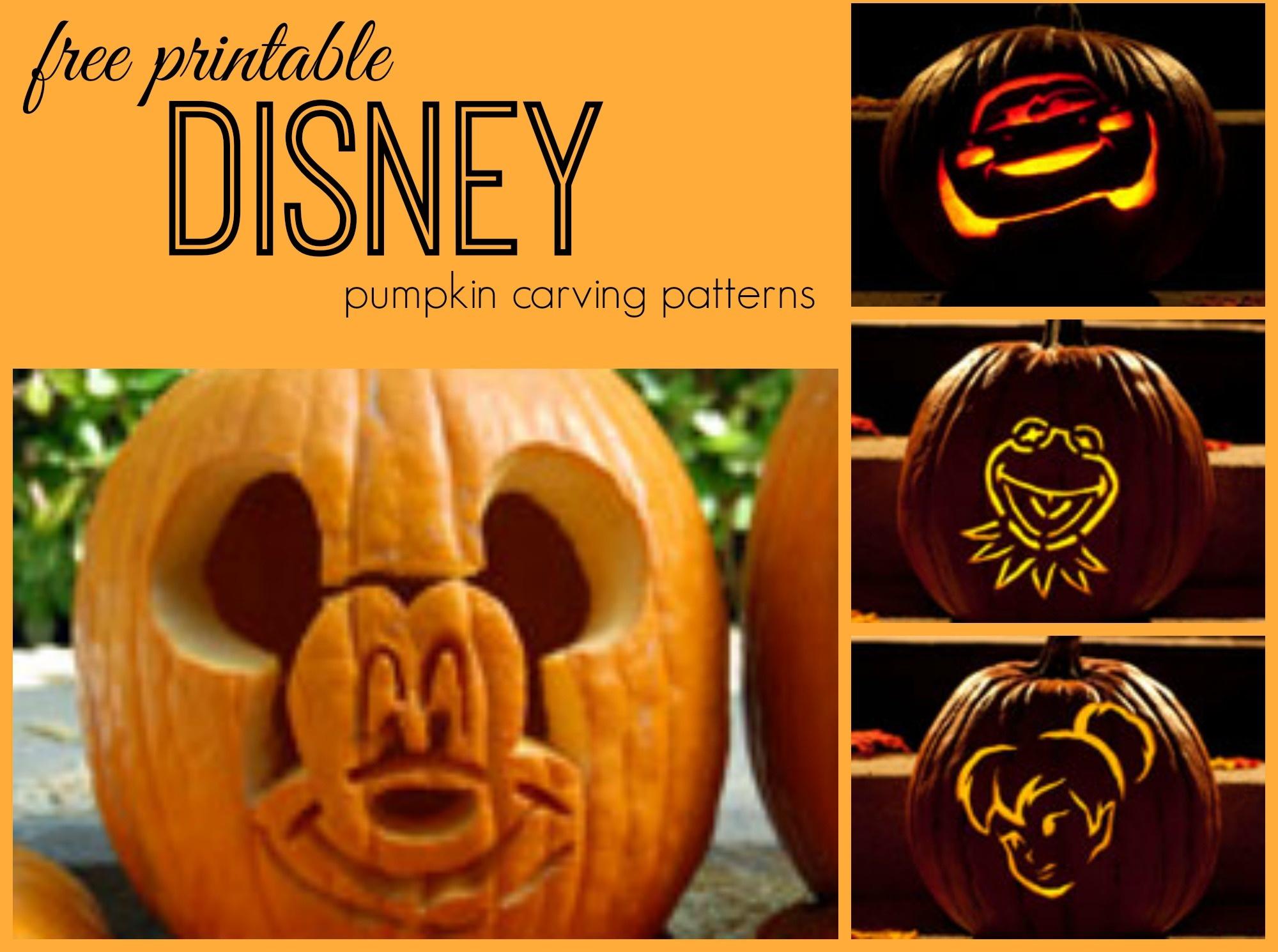 Disney Pumpkin Carving Patterns - Frugal Fanatic - Free Pumpkin Carving Templates Printable