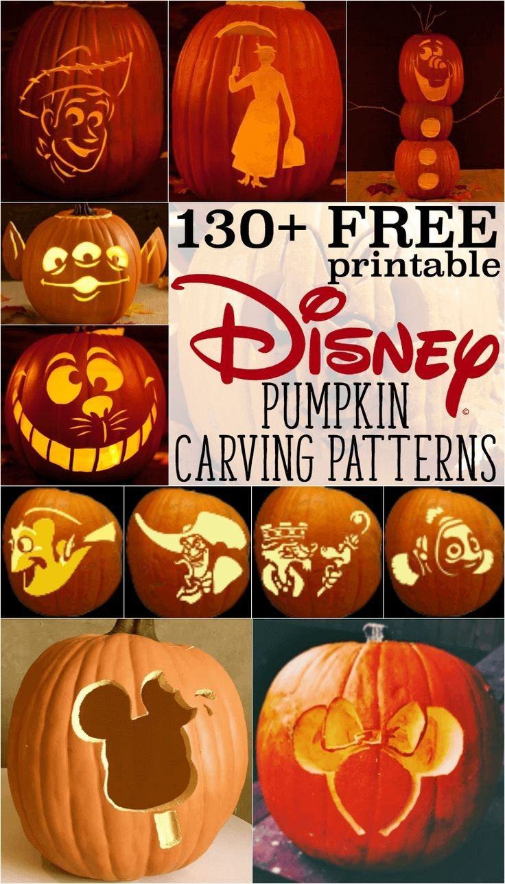 Disney Pumpkin Stencils: Over 130 Printable Pumpkin Patterns - Halloween Pumpkin Carving Stencils Free Printable