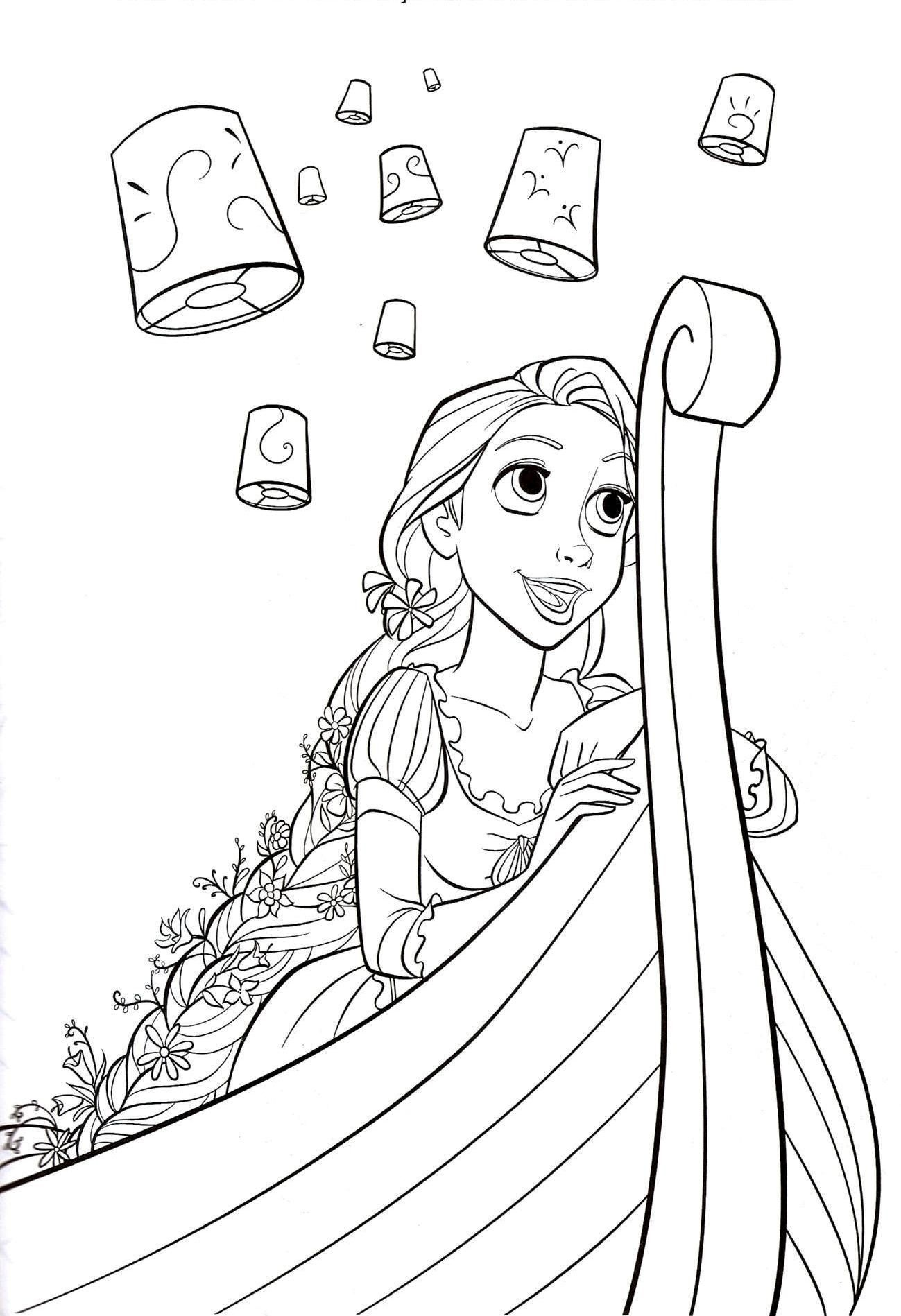 Flynn Rider And Rapunzel Coloring Page | Free Printable ...