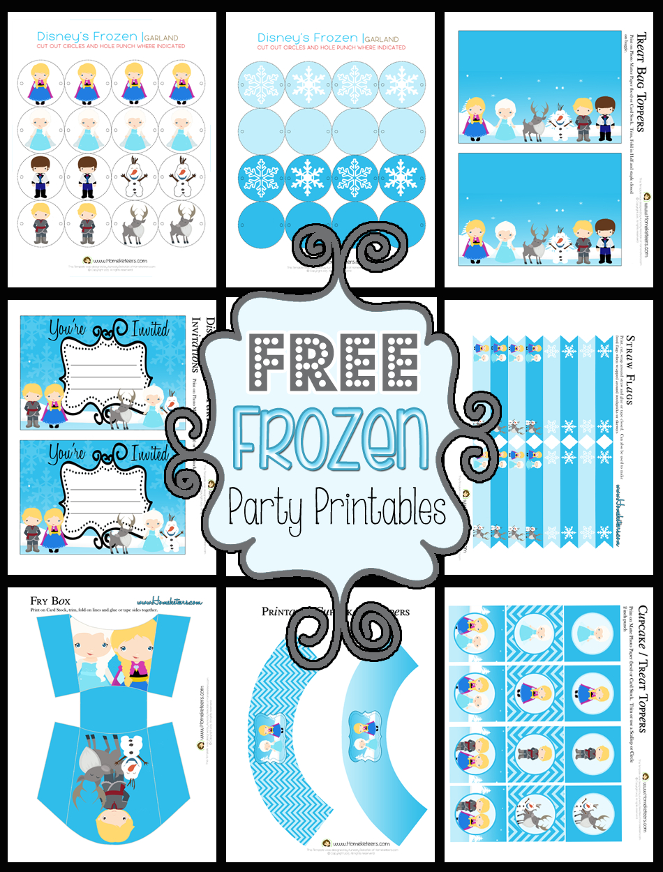 Disney's Frozen Party Printable Set ~ Free - Frozen Happy Birthday Banner Free Printable