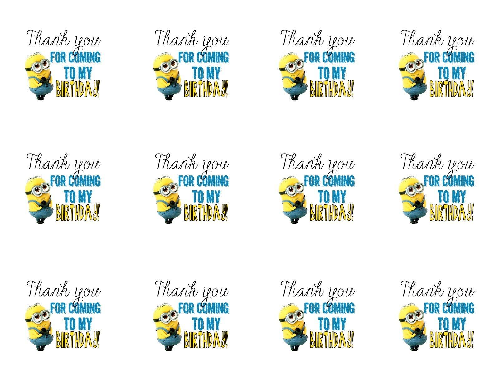 Diy Design Den: Minion Birthday Party With Free Printables. | Minion - Free Printable Minion Food Labels