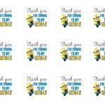 Diy Design Den: Minion Birthday Party With Free Printables. | Minion   Thanks A Minion Free Printable