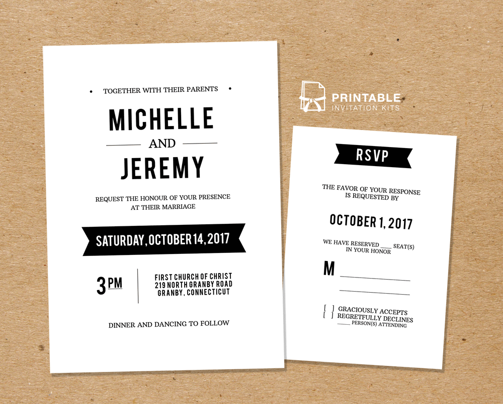 Diy Free Pdf Printable Wedding Invitation And Rsvp | Wedding - Free Printable Rsvp