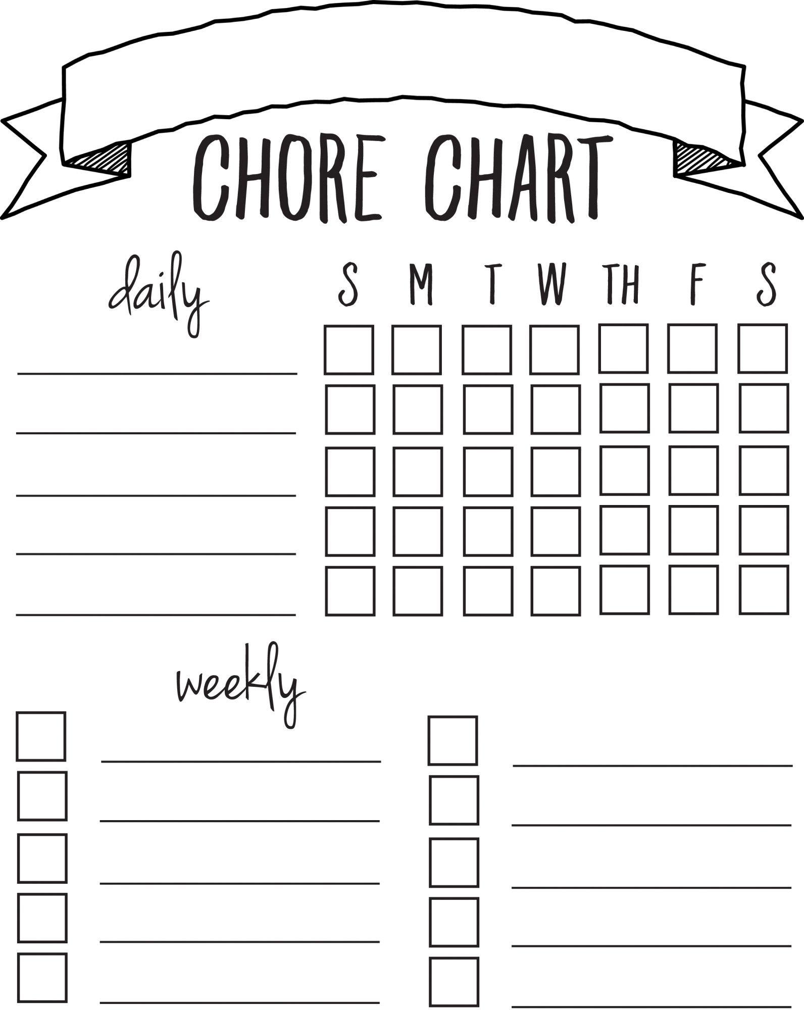 Diy Printable Chore Chart | Free Printables Nov/feb | Chore Chart - Chore Chart For Adults Printable Free