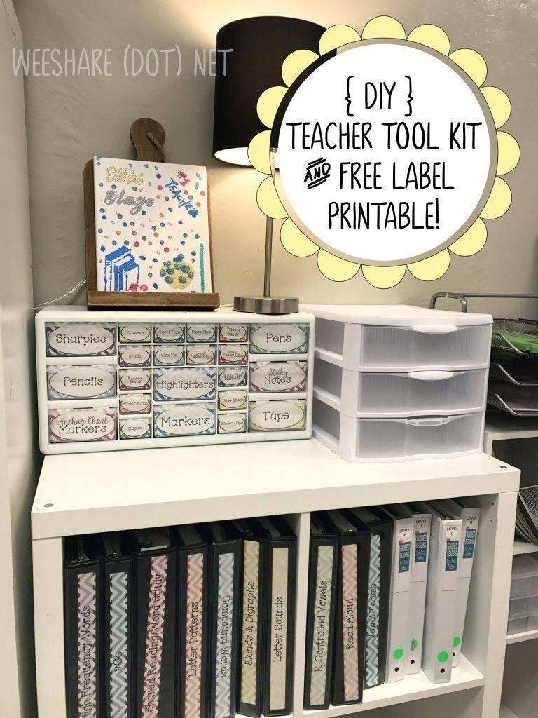 Diy Teacher Tool Box And Free Printable Drawer Labels!   Teach - Free Printable Teacher Toolbox Labels