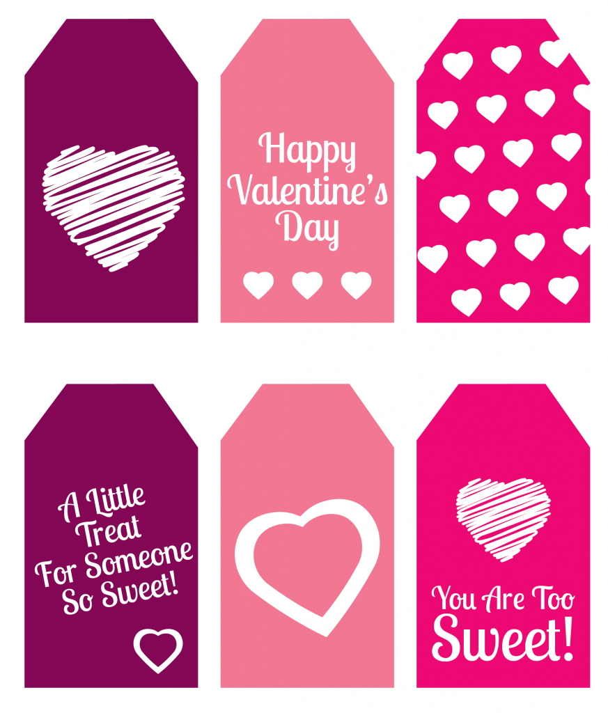 Diy Valentine's Day Gift: Mini Candy Boxes & Printable Gift Tags - Free Printable Valentine's Day Stencils