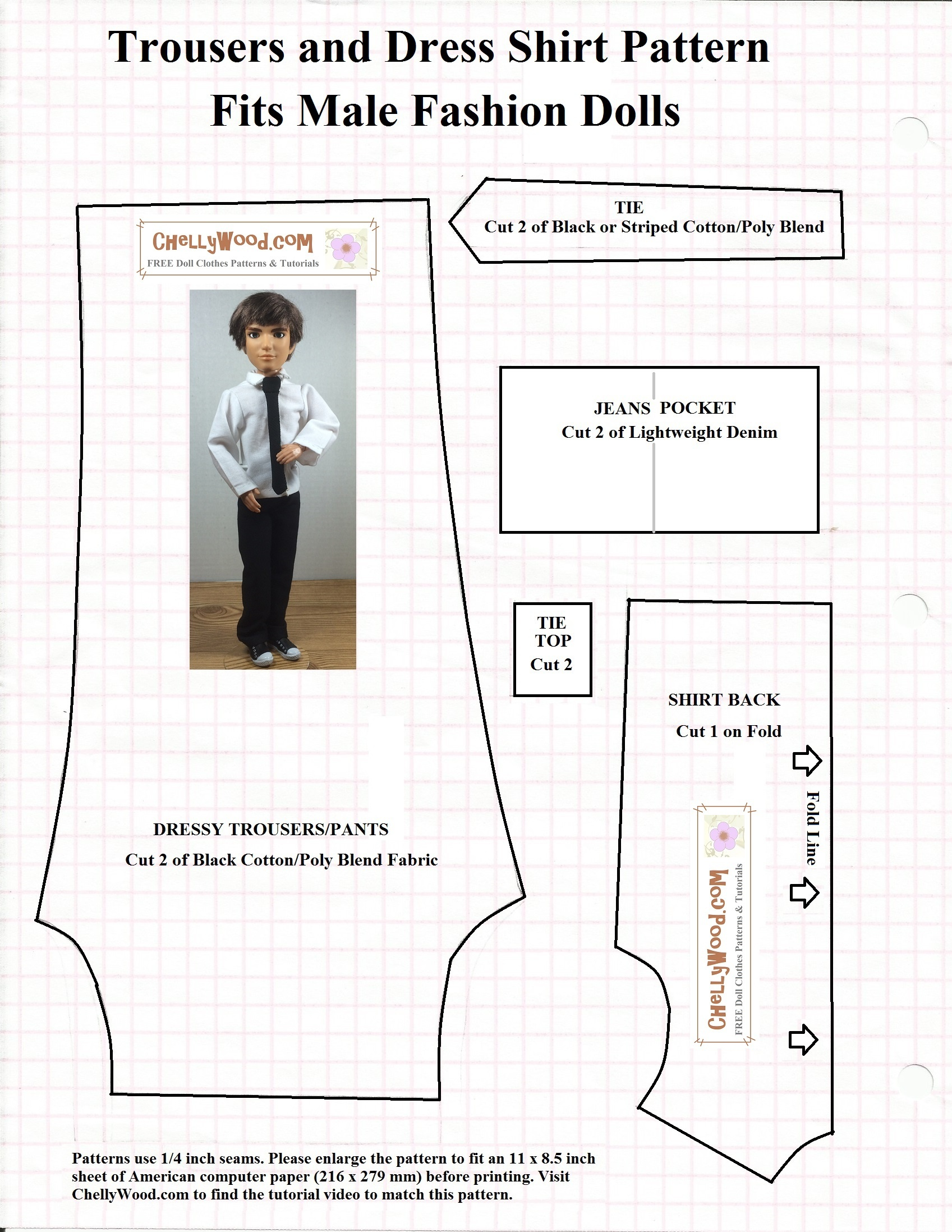 Doll Sewing Patterns Free Printable Sewing Patterns For Ken Dolls - Free Printable Patterns For Sewing Doll Clothes