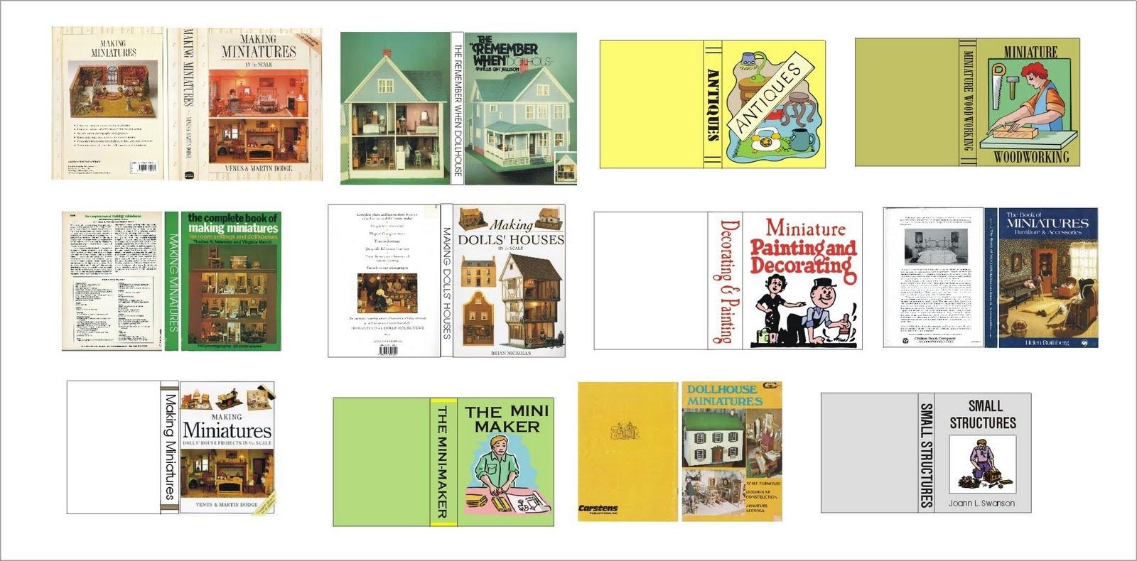 Dollhouse Miniature Printable Book Covers | Pictureicon - Free Printable Miniature Book Covers