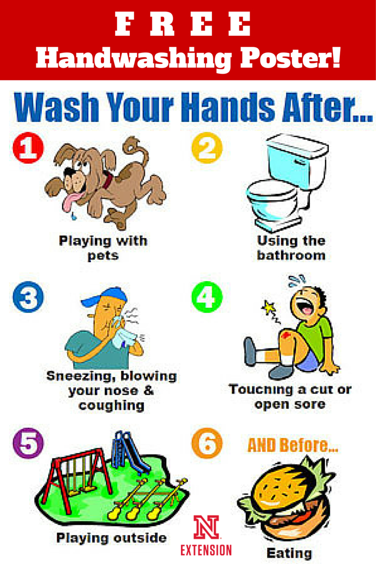 "Download A Free 8-1/2 X 11"" Handwashing Poster   Education   Hand - Free Printable Hand Washing Posters"