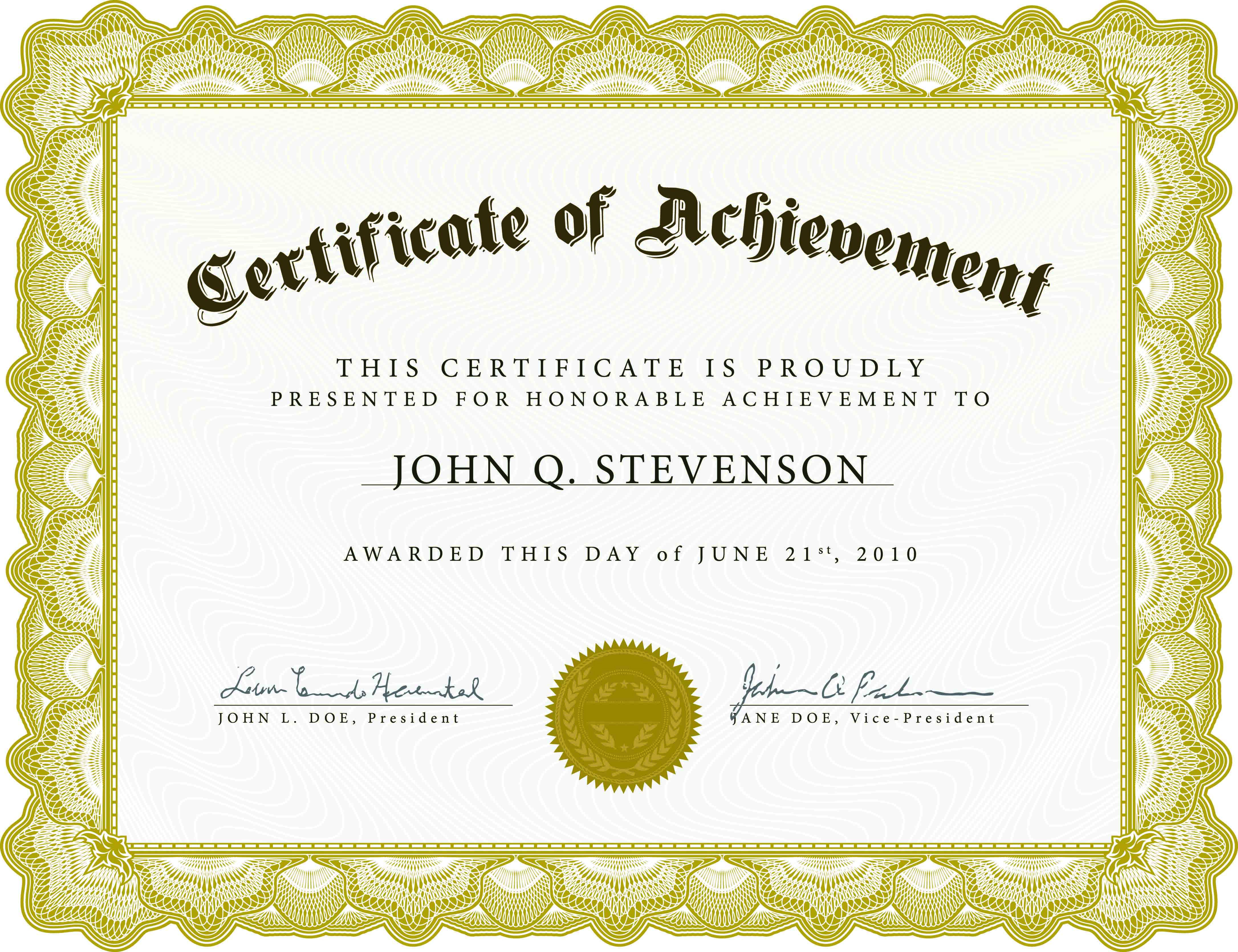 Download Blank Certificate Template X3Hr9Dto | St. Gabriel's Youth - Free Printable Certificates Of Accomplishment