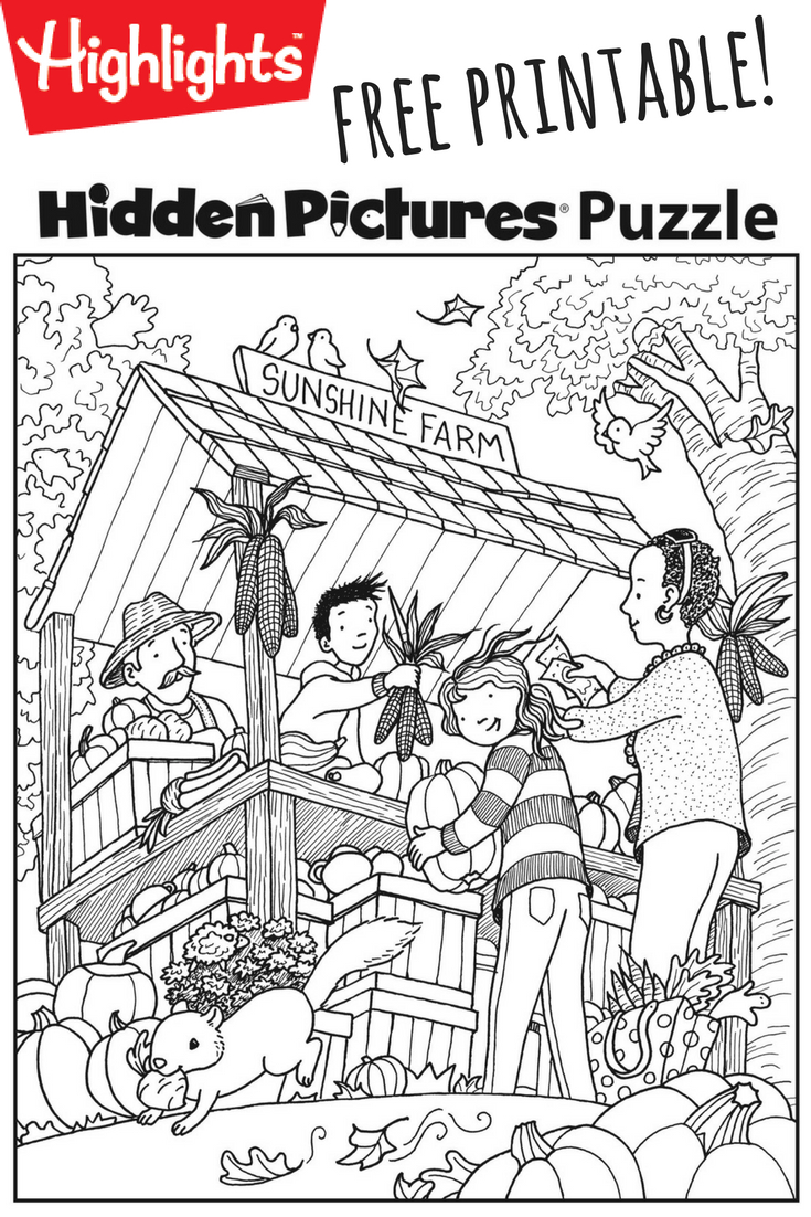Download This Festive Fall Free Printable Hidden Pictures Puzzle To - Free Printable Hidden Pictures For Kids
