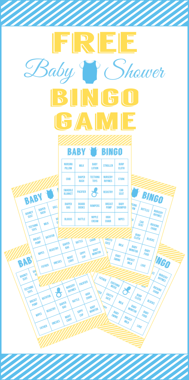 Download This Free Printable Baby Shower Bingo For Boys! | Catch My - Free Printable Baby Shower Decorations For A Boy