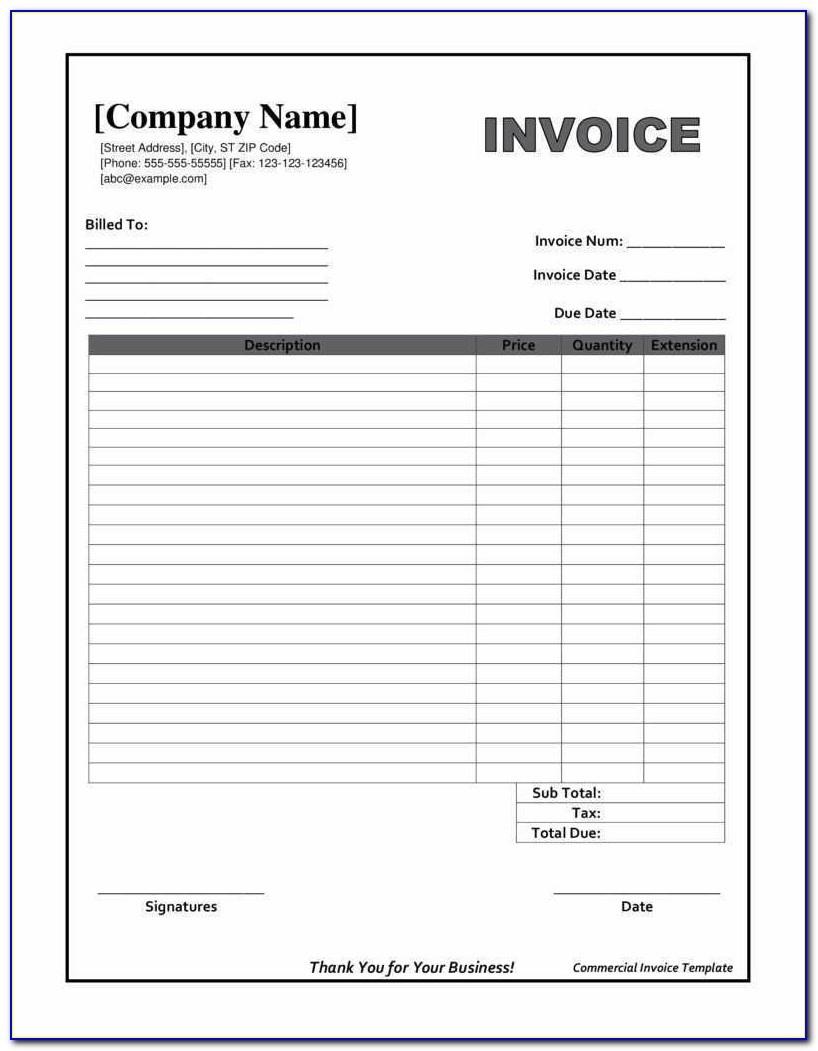 Downloadable Invoice Template Beautiful Printable Invoices Templates - Free Printable Blank Invoice Sheet