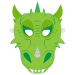 Dragon Mask Template | Free Printable Papercraft Templates   Dragon Mask Printable Free