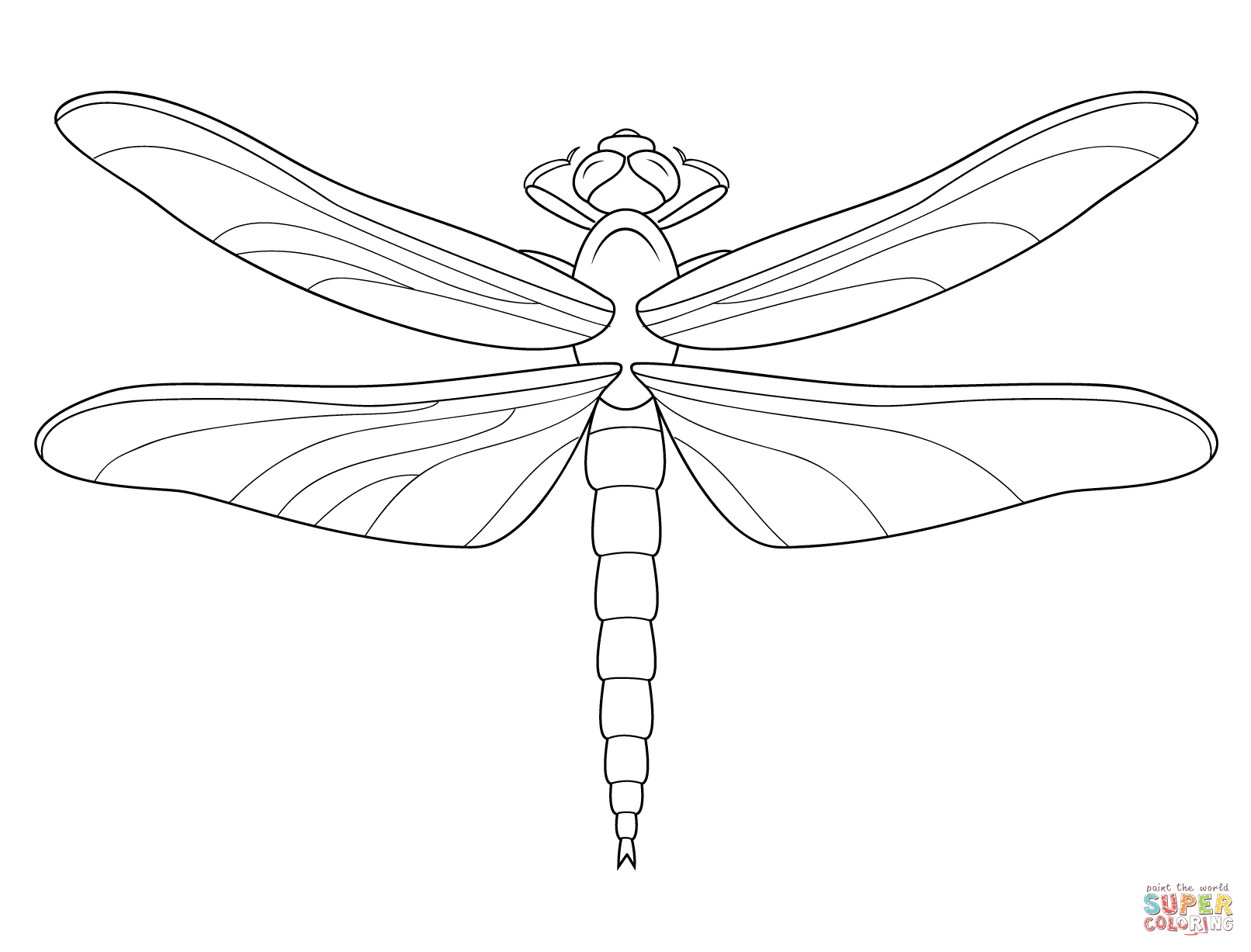 Dragonfly Coloring Page | Free Printable Coloring Pages - Free Printable Pictures Of Dragonflies