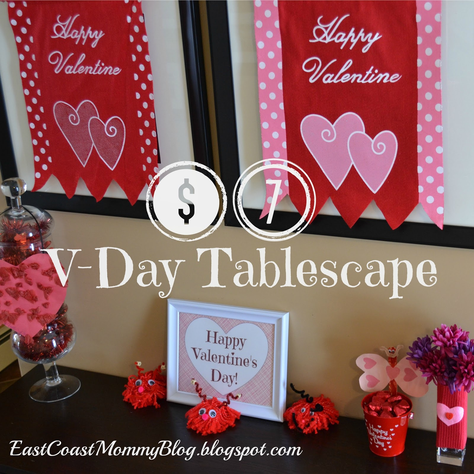 East Coast Mommy: Diy Valentine's Day Decor {With Free Printable} - Free Printable Valentine's Day Decorations