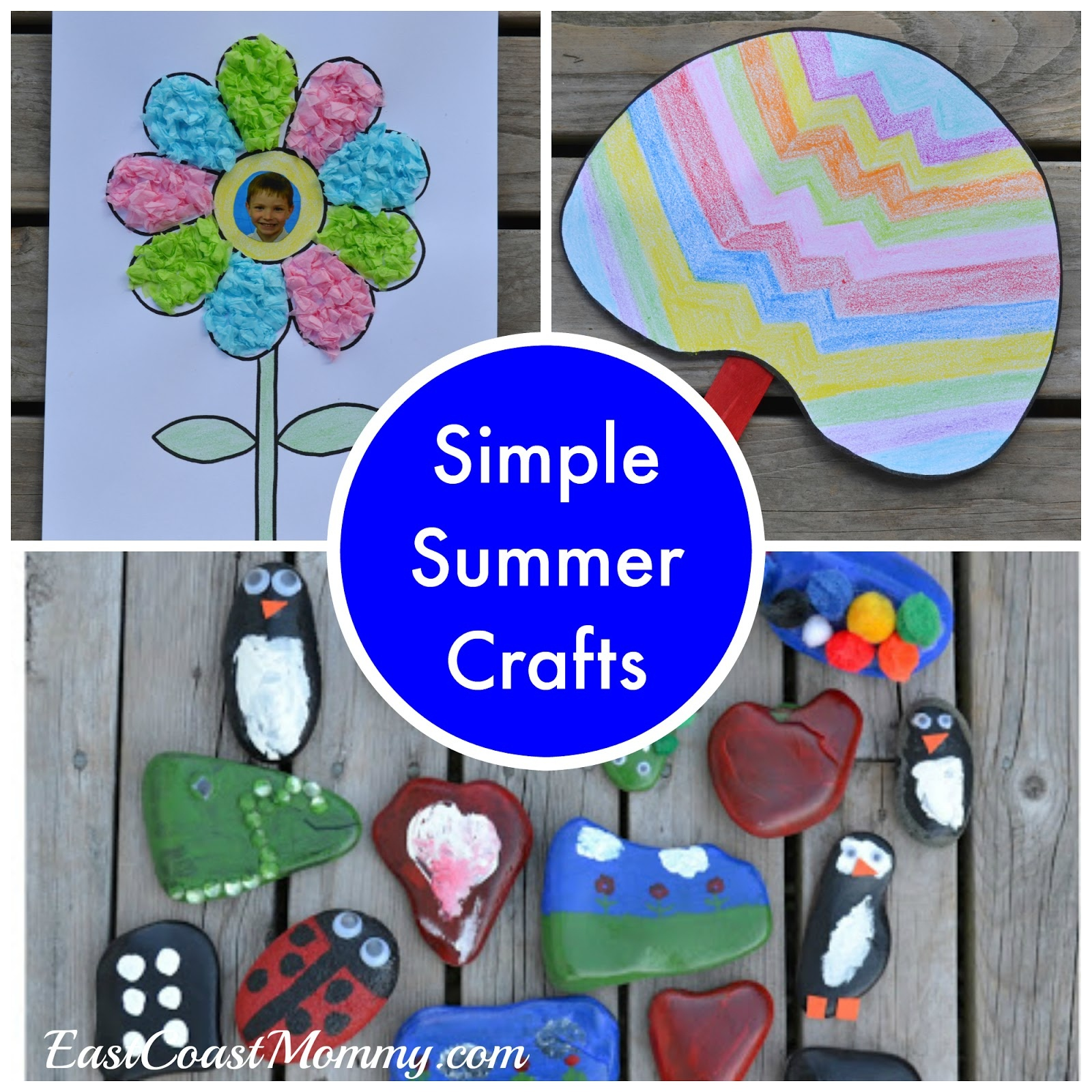 East Coast Mommy: Simple Summer Crafts {With Free Printable Templates} - Free Printable Craft Activities