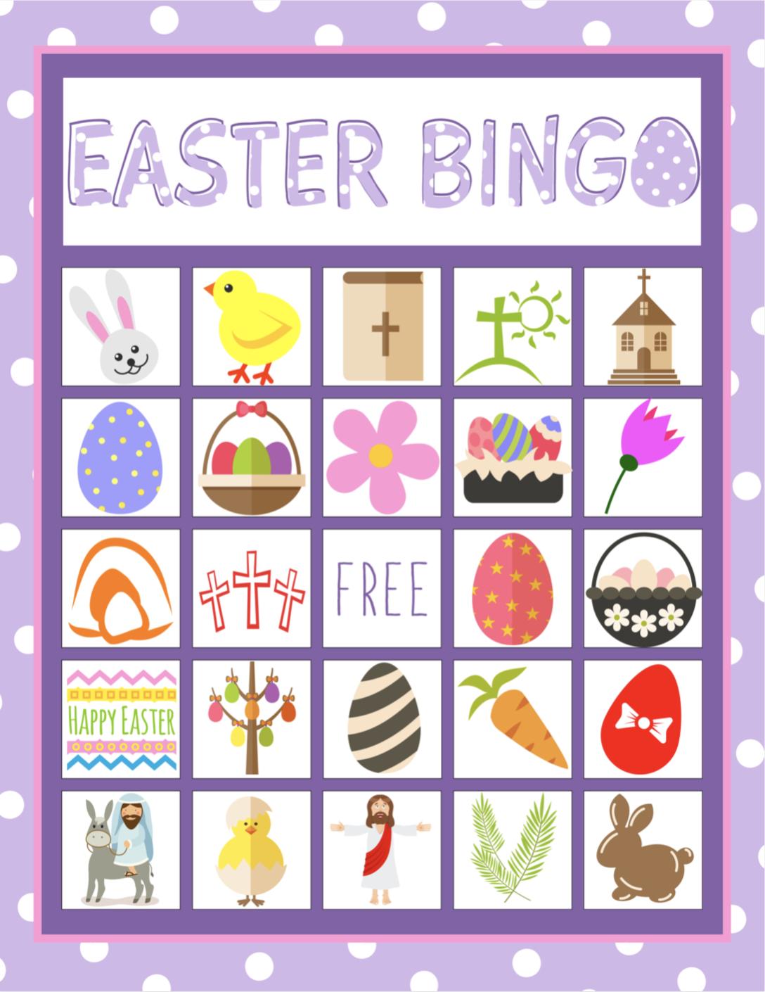 Easter Bingo Game For Kids   Children's Pastor Only   Easter Bingo - Free Printable Bible Bingo For Preschoolers