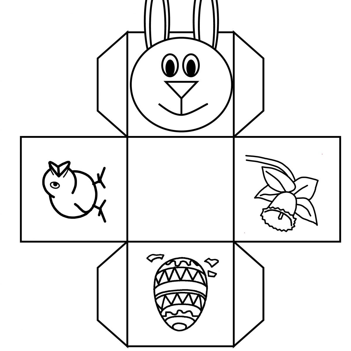 Easter Bunny Basket Template Printable – Happy Easter & Thanksgiving - Free Printable Easter Egg Basket Templates