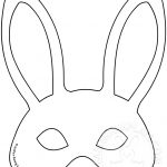 Easter Bunny Mask Template | Easter Template   Free Printable Easter Masks