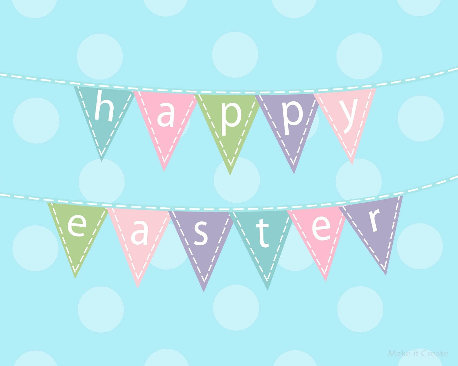 Easter Bunting Printable – Happy Easter & Thanksgiving 2018 - Free Printable Easter Bunting