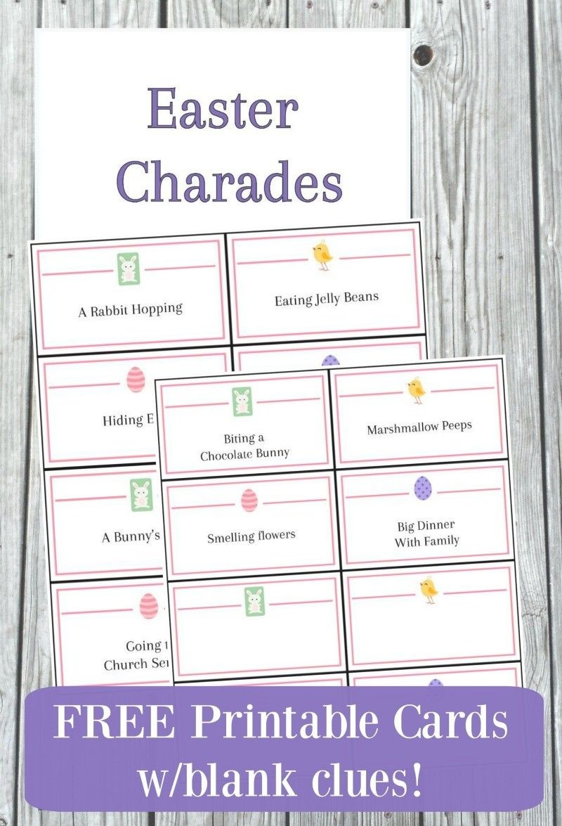 Easter Charades Game With Free Printable Cards In 2019   Easter - Free Printable Charades Cards