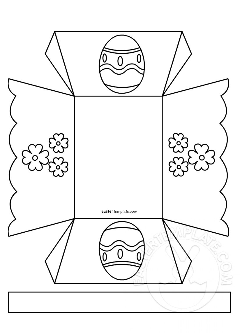 Easter Egg Basket Template | Easter Template - Free Printable Easter Egg Basket Templates
