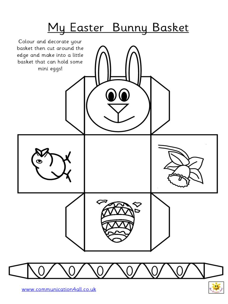 Easter Egg Basket Templates Free – Hd Easter Images - Free Printable Easter Egg Basket Templates