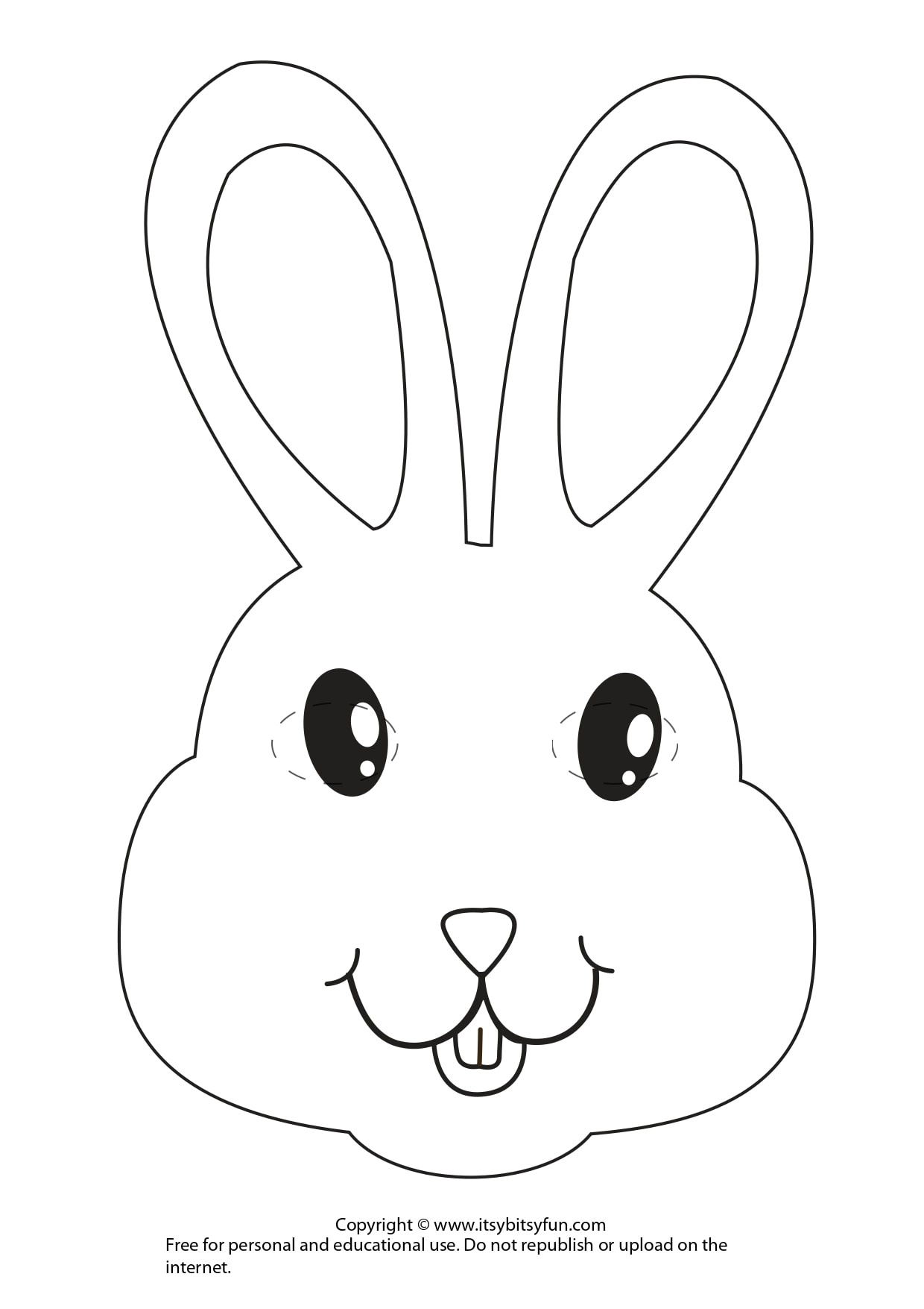 Easter Masks - Bunny Rabbit And Chick Template - Itsy Bitsy Fun - Free Printable Bunny Templates