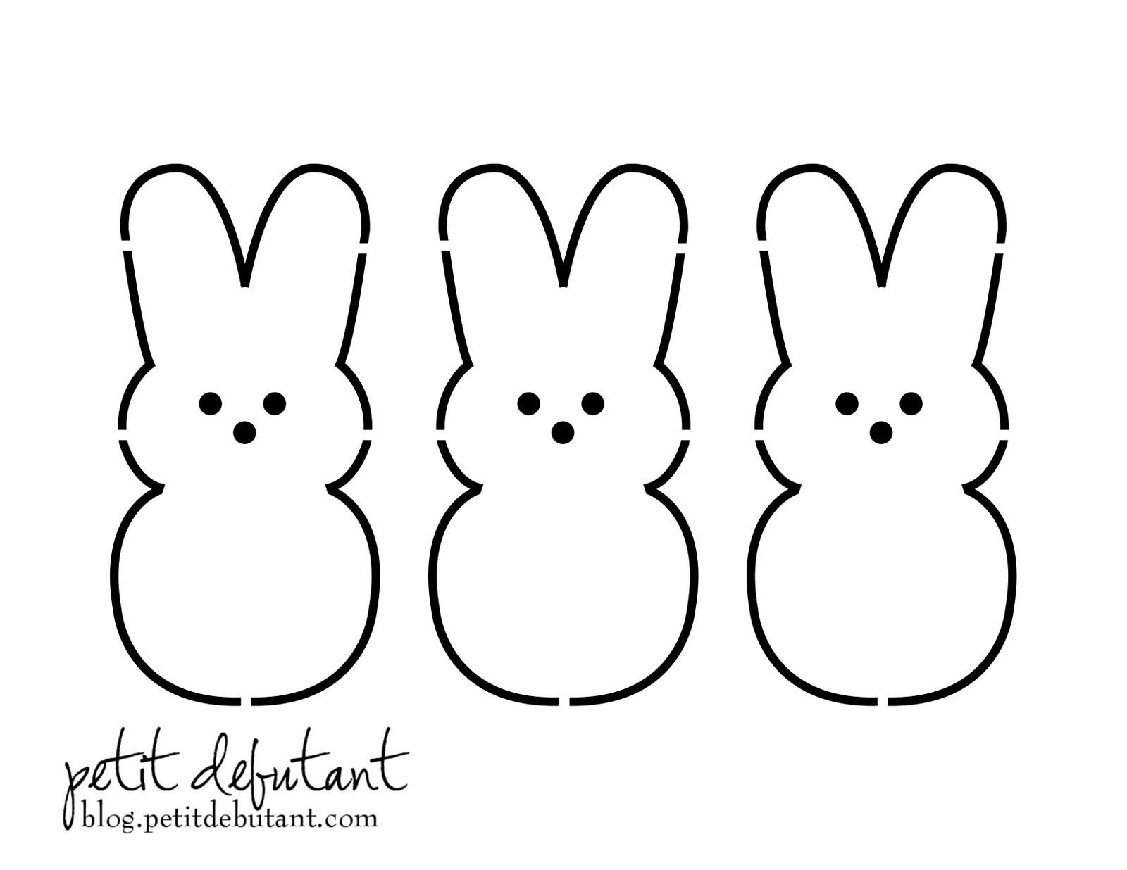 Easter Rabbit Template Free - Kaza.psstech.co - Free Printable Bunny Templates