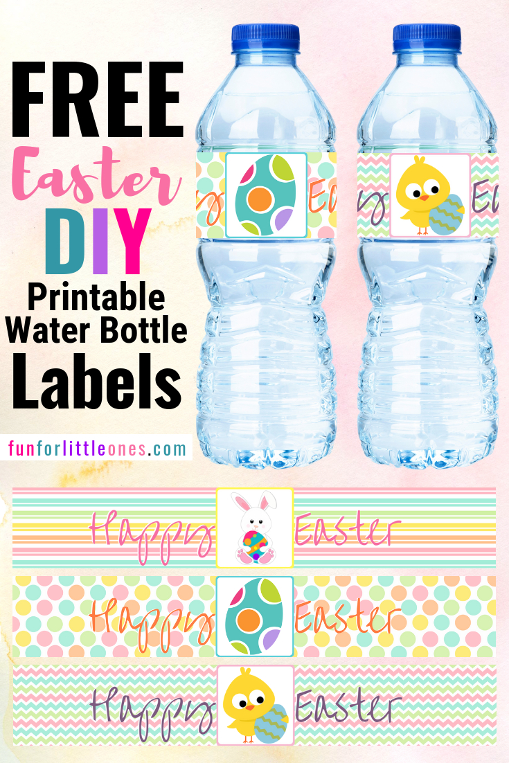 Easter Water Bottle Labels For Kids (Free Printable) - Fun For - Free Printable Water Bottle Labels