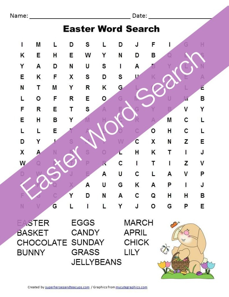 Easter Word Search Free Printable For Kids - Word Search Free Printable Easy
