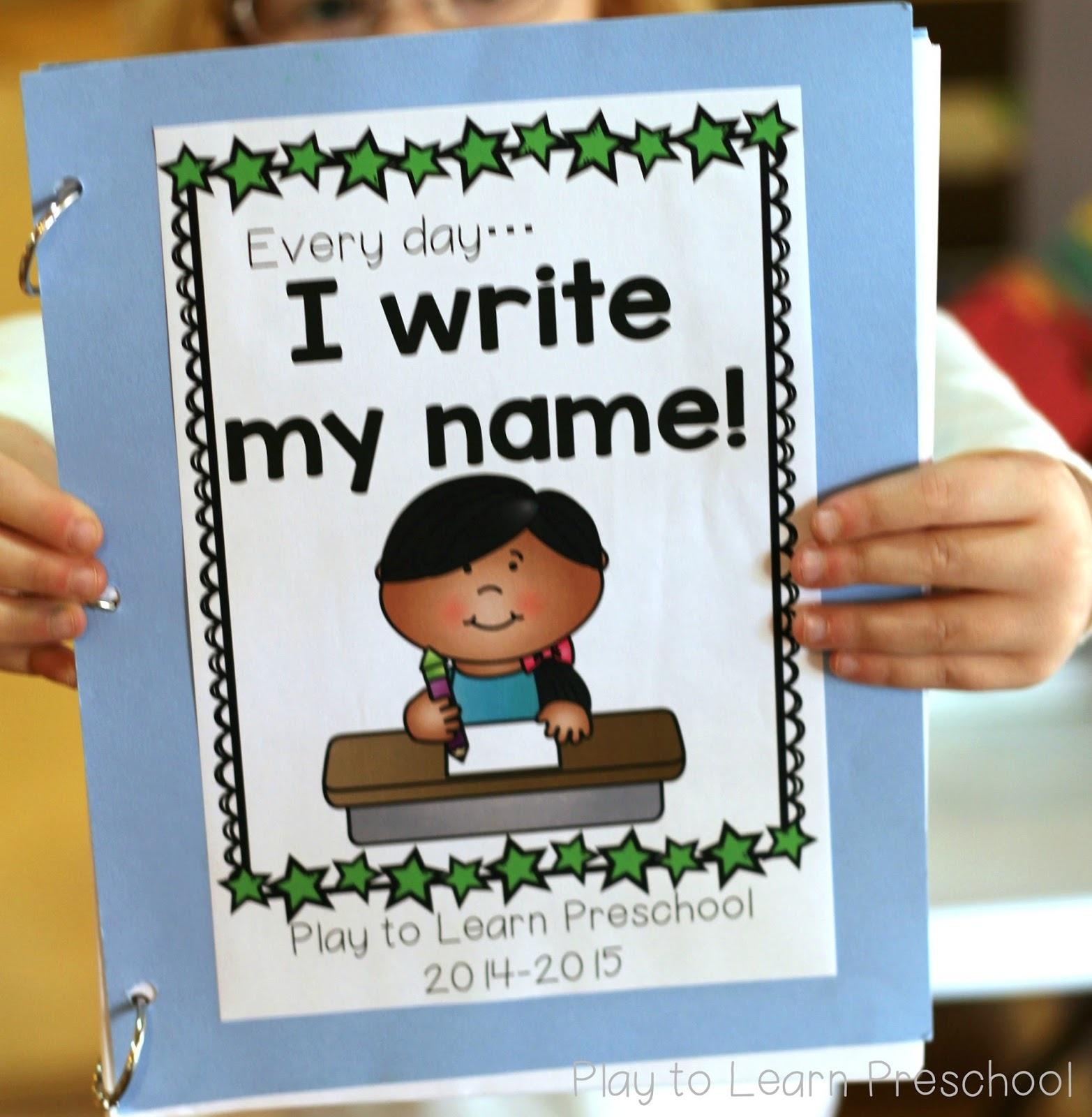 Easy Name Practice - Free Printable Pre K Reading Books