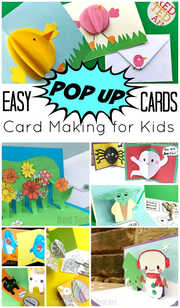 Easy Pop Up Card How To Projects - Red Ted Art - Free Printable Funny Thinking Of You Cards