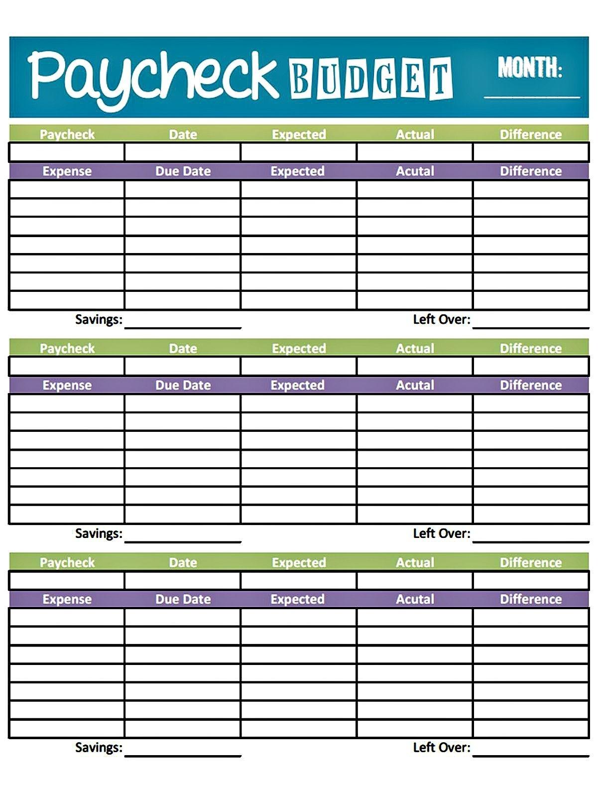 Easy Printable Budget Worksheet | Get Paid Weekly And Charlie Gets - Free Printable Budget Worksheets