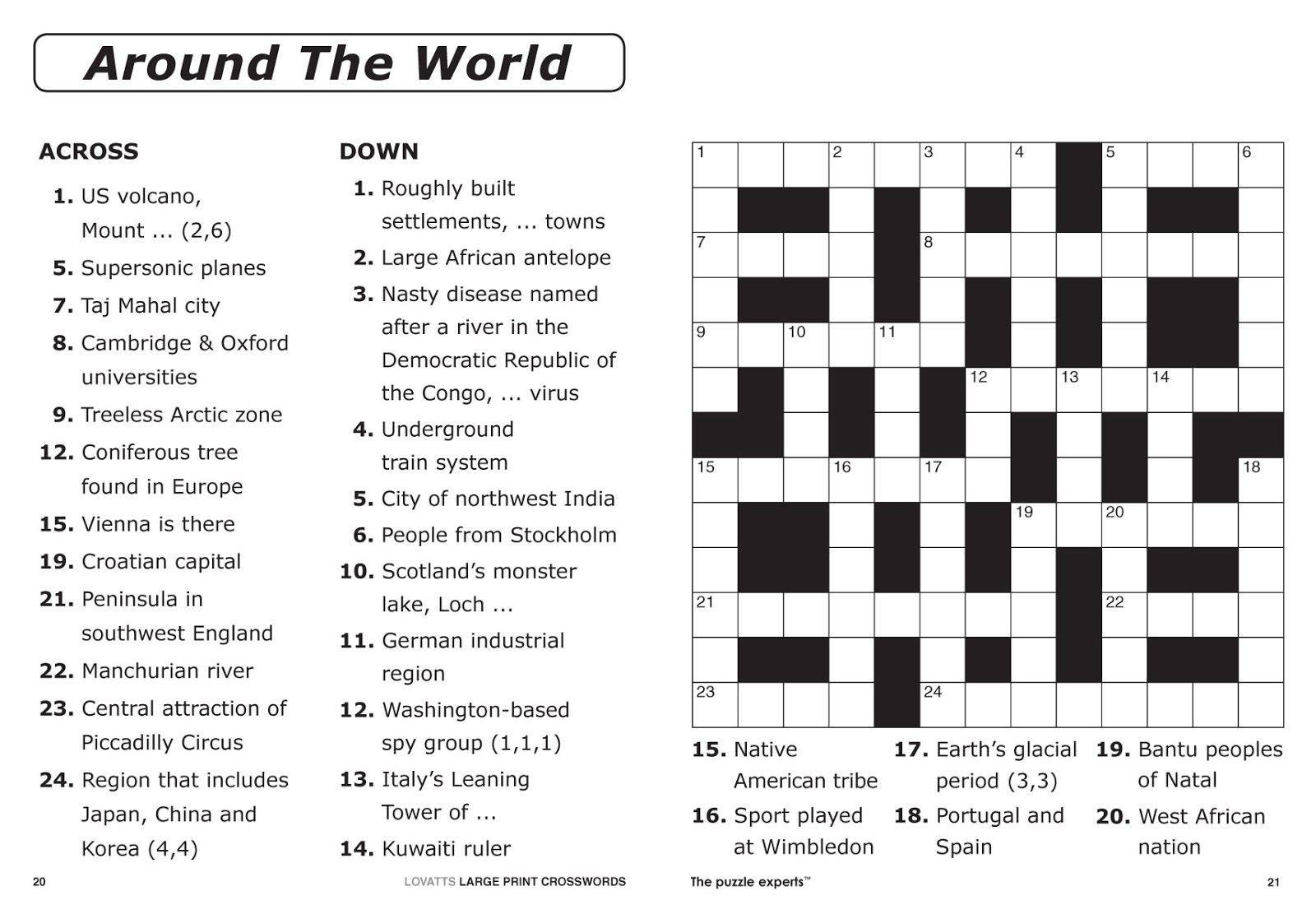 Easy Printable Crossword Puzzles For All Ages Kids - Loveandrespect - Free Printable General Knowledge Crossword Puzzles