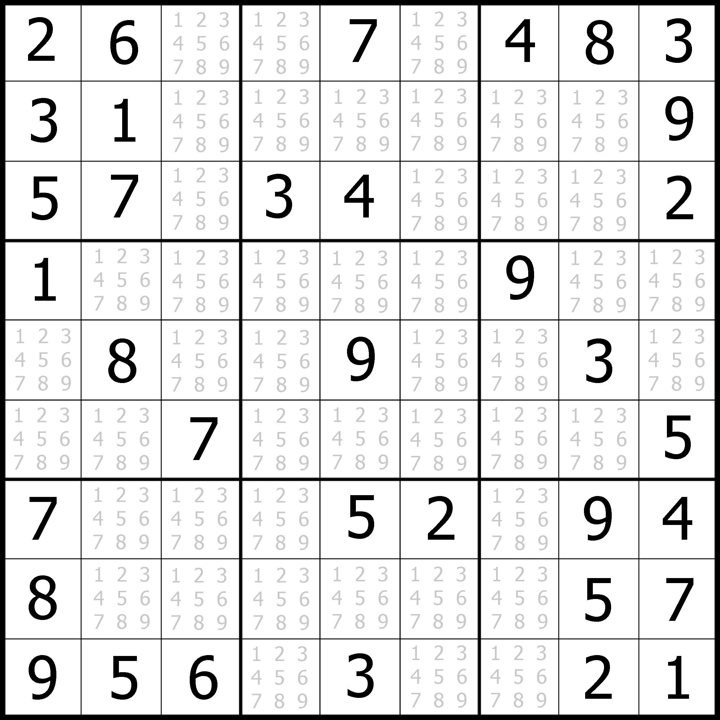 Easy Sudoku Printable | Kids Activities - Free Printable Sudoku