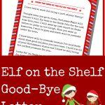 Elf On The Shelf Good Bye Letter   A Grande Life   Elf On The Shelf Goodbye Letter Free Printable