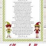 Elf On The Shelf Story   Free Printable Poem | Advent Poems | Elf On   Free Printable Elf On The Shelf Story