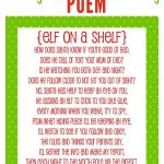 Elf On The Shelf Story   Free Printable Poem | Christmas Help | Elf   Free Printable Elf On The Shelf Story