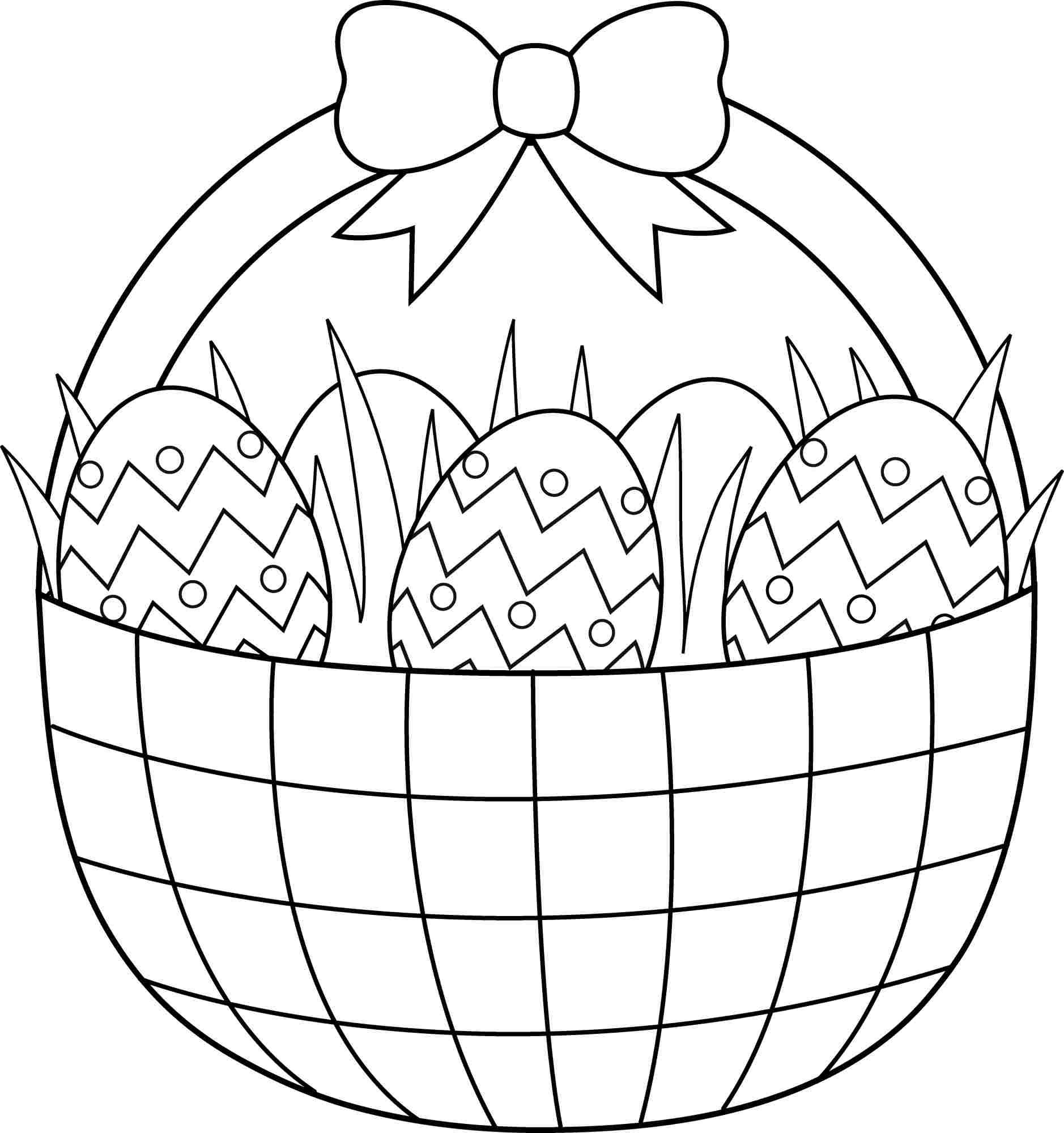 Empty Easter Basket Coloring Page - Coloring Home - Free Printable Coloring Pages Easter Basket