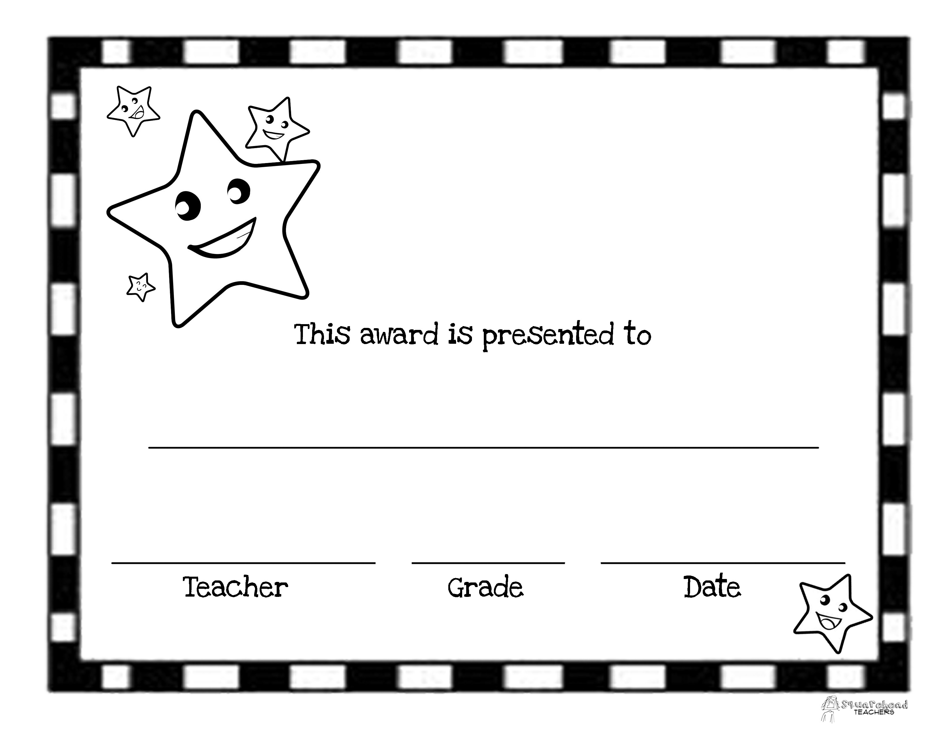 End Of The Year Awards (44 Printable Certificates) | Squarehead Teachers - Free Printable Award Certificates For Elementary Students