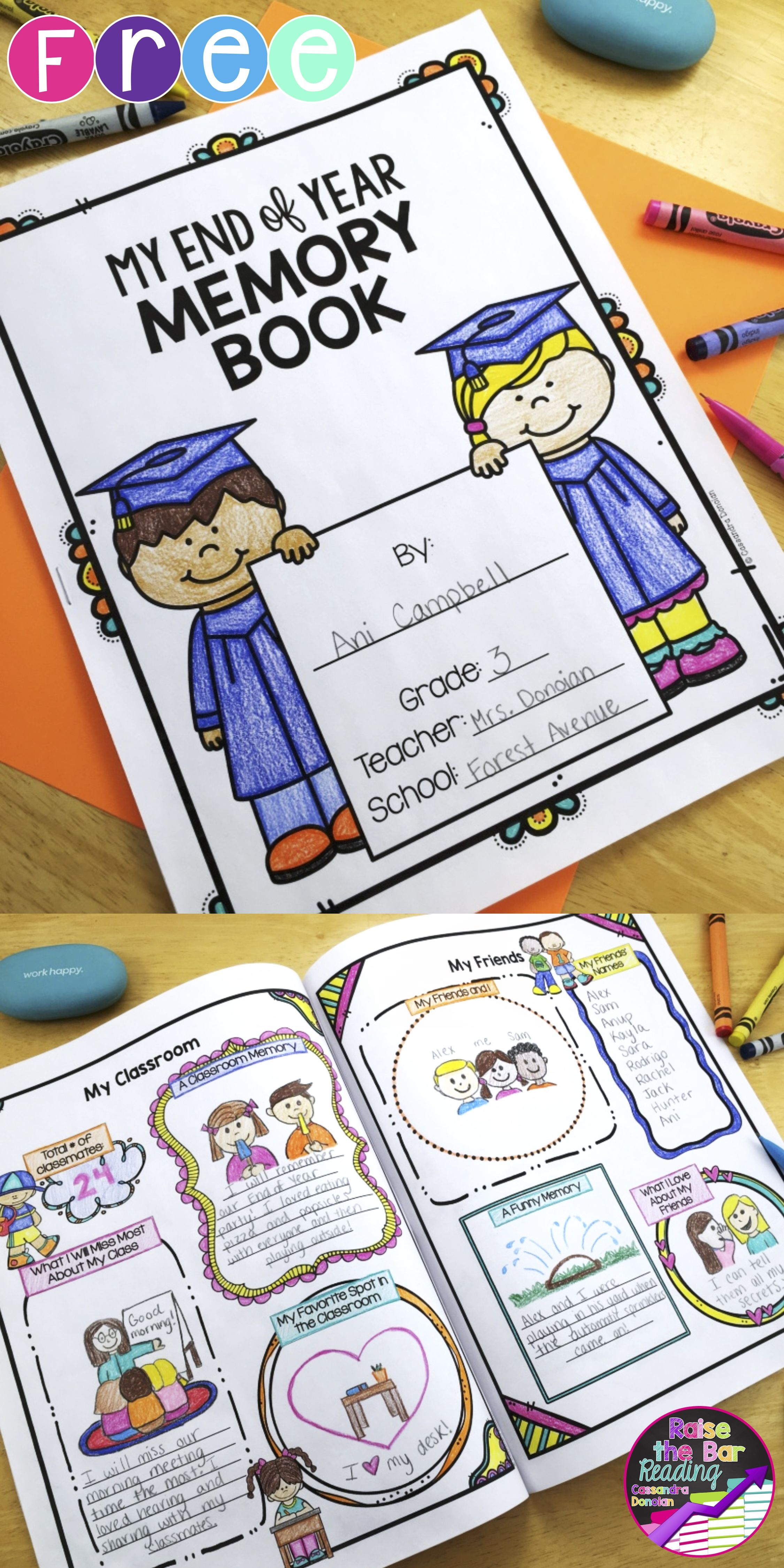 End Of Year Memory Book *free   Raise The Bar Reading Resources - Free Printable Pre K Reading Books