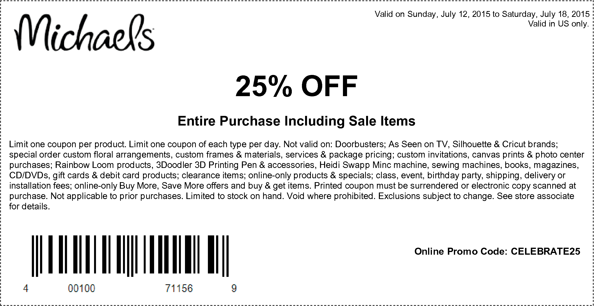 Entire Purchase Including Sale Items   Stuff To Buy   Free Printable - Free Printable Michaels Coupons
