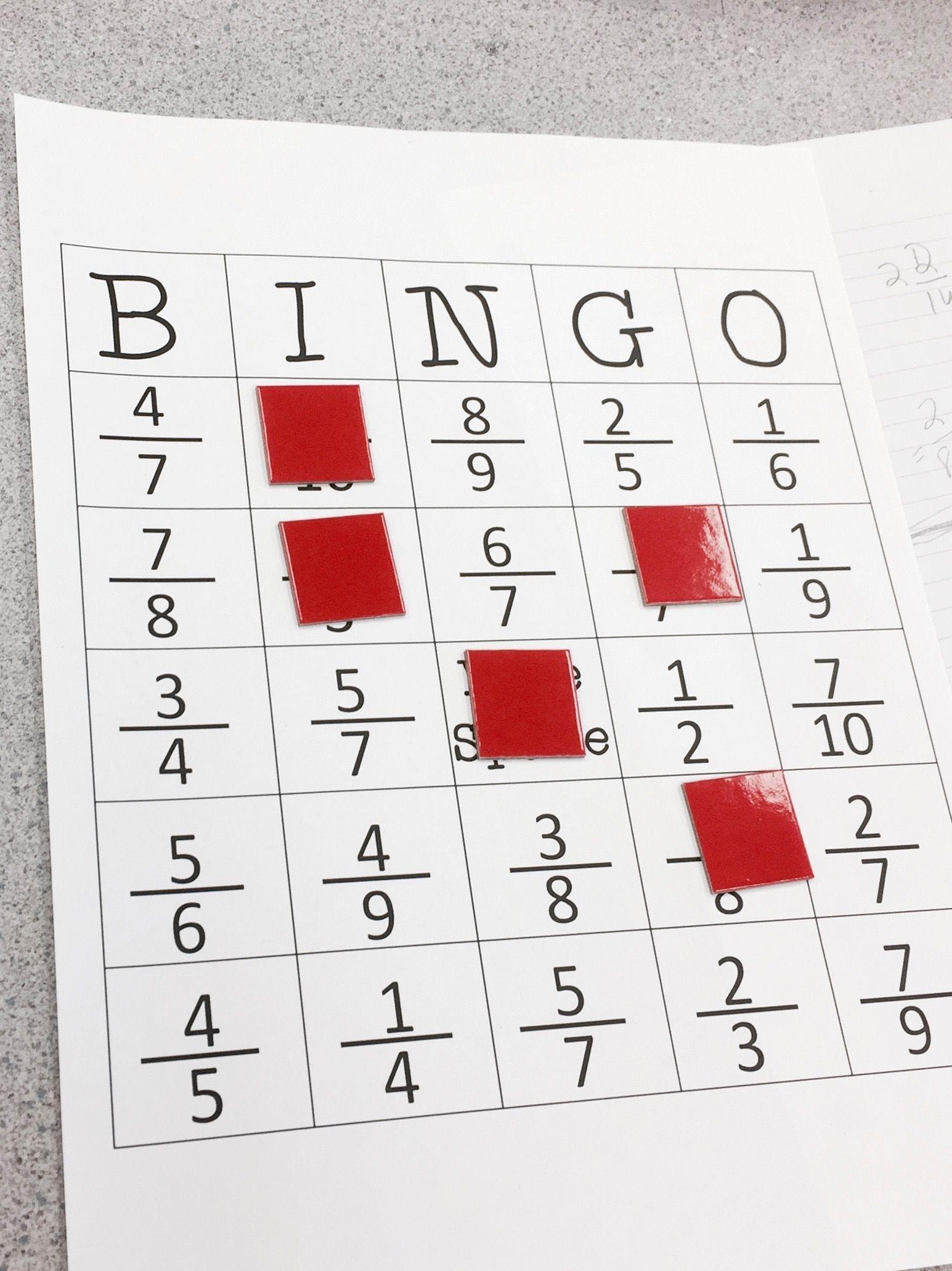 Equivalent Fraction Bingo | Elementary Education Collaborative Board - Fraction Bingo Cards Printable Free