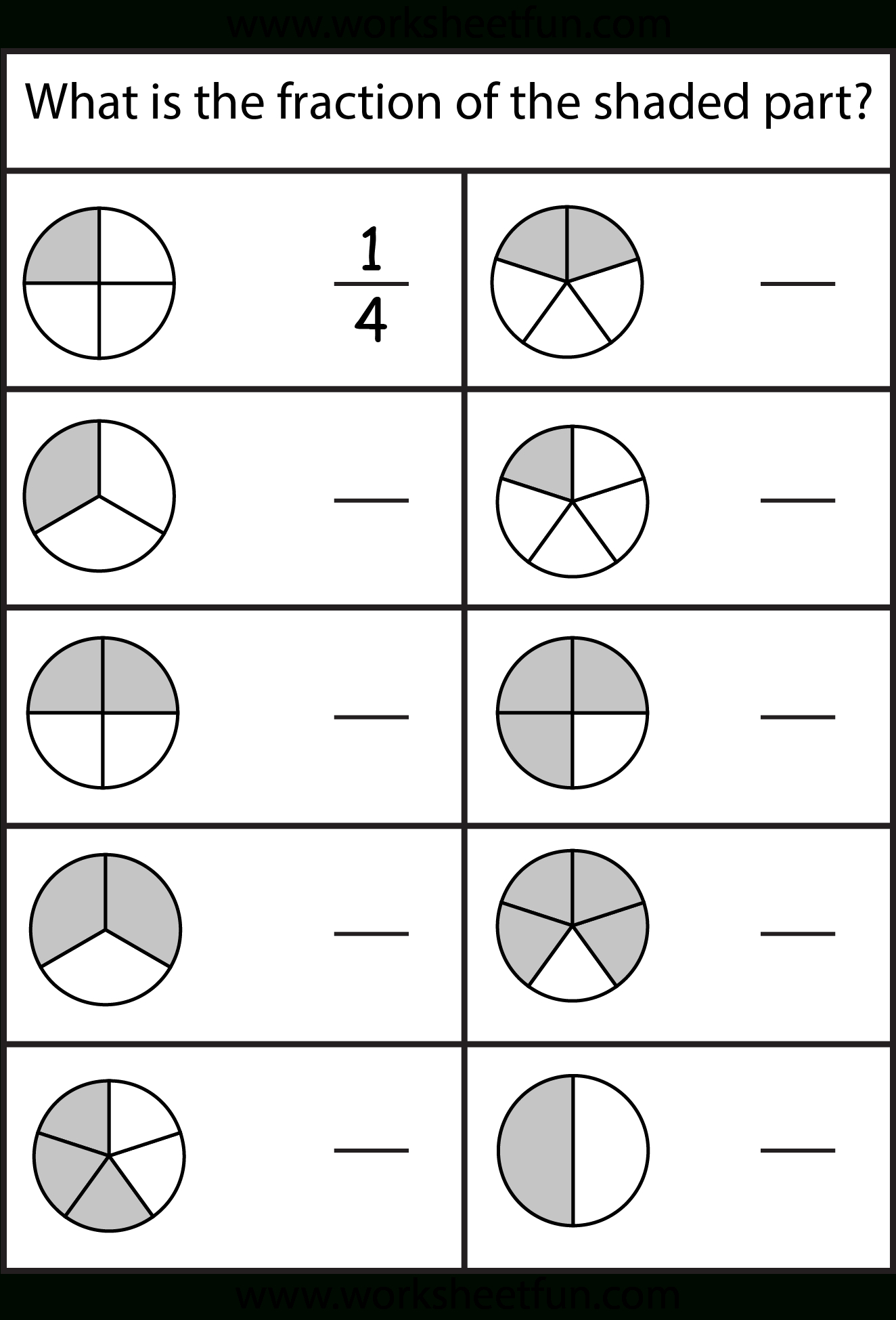 Equivalent Fractions Worksheet / Free Printable Worksheets - Free Printable Blank Fraction Circles
