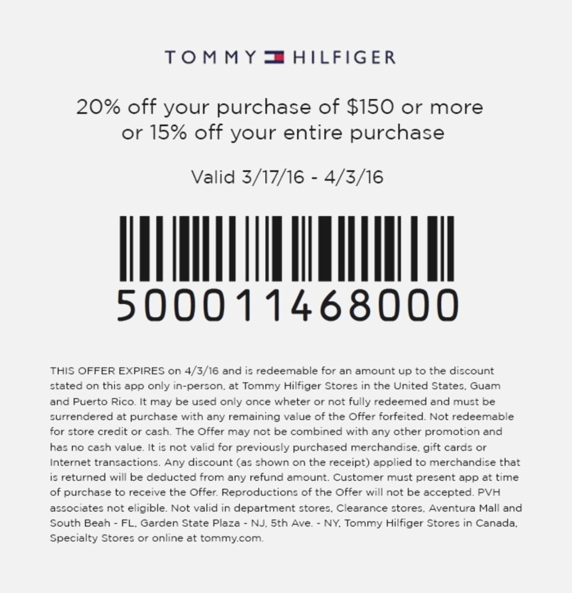 Exceptional Tommy Hilfiger Outlet Printable Coupon | Jeettp - Printable Thangles Free