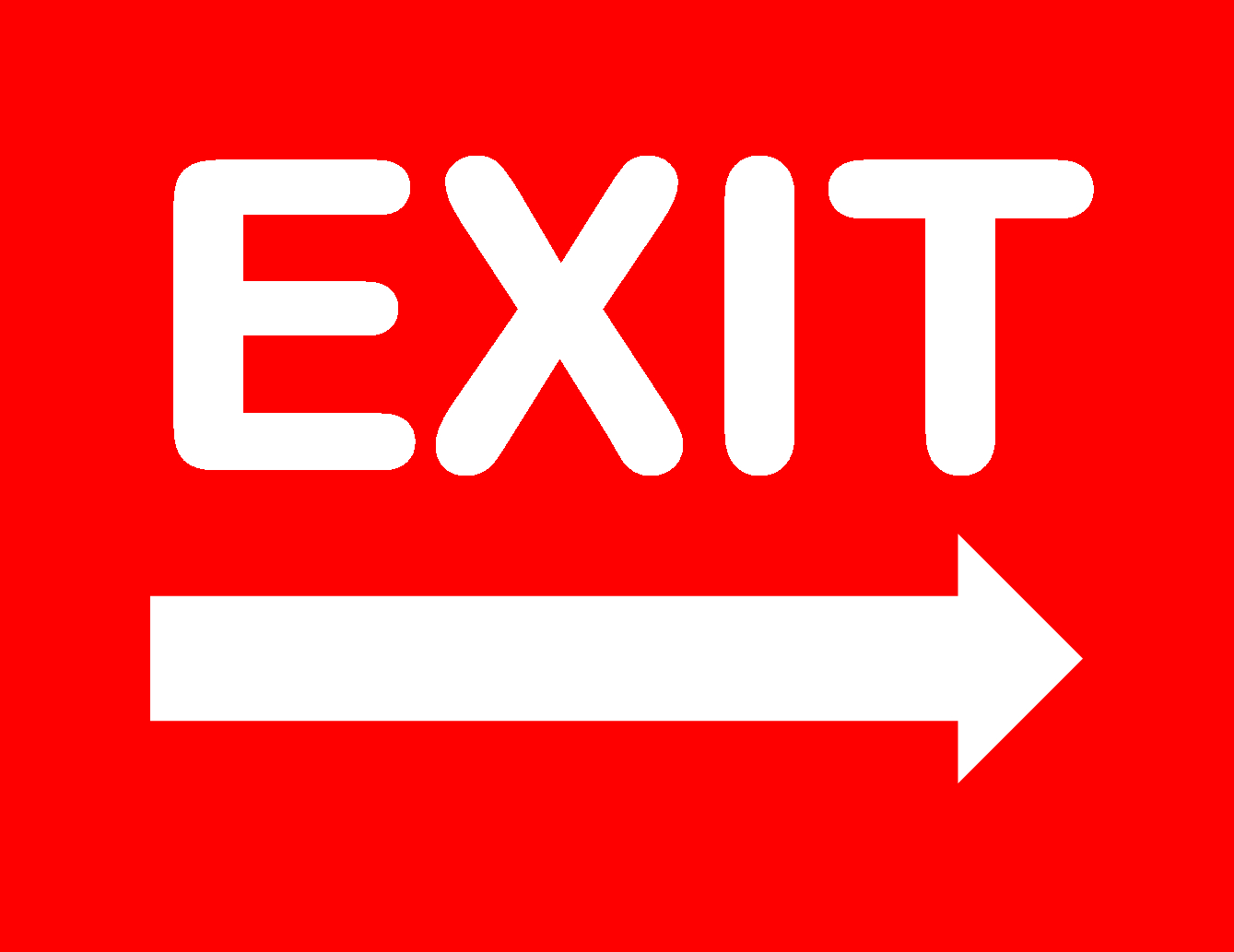Exit Sign - Free Printable Not An Exit Sign